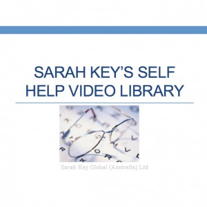 Sarah Key Self Help Video Library Logo